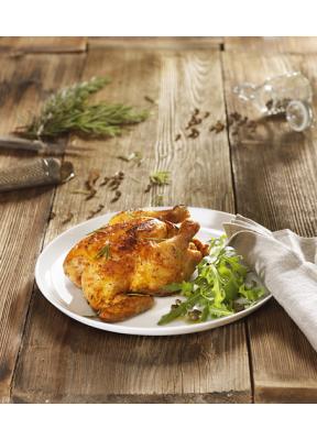halbes-poulet-grilliert-rosmarin-rucola-salat