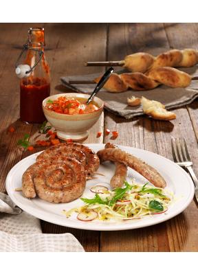 Poulet-Grillwurst