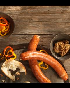 poulet-rauchwurst-brot-grillierte-peperoniringe